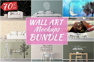 Wall Art Mockups BUNDLE V48