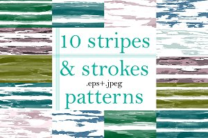 10 Stripes and Strokes patterns