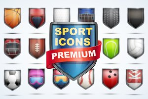 MEGA-Set Premium Icons of Sports.