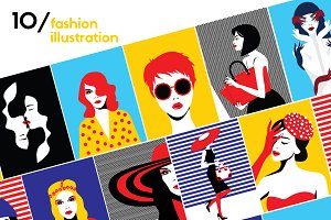 10 HOT - Fashion llustration