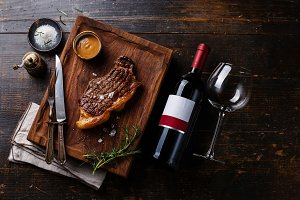 Steak Striploin with Pepper sauce