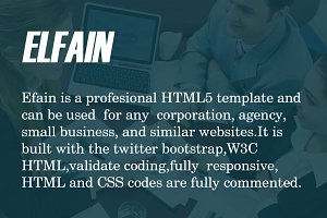 ELFAIN - Corporate HTML Template