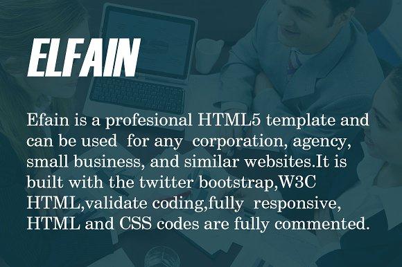 ELFAIN Corporate HTML Template