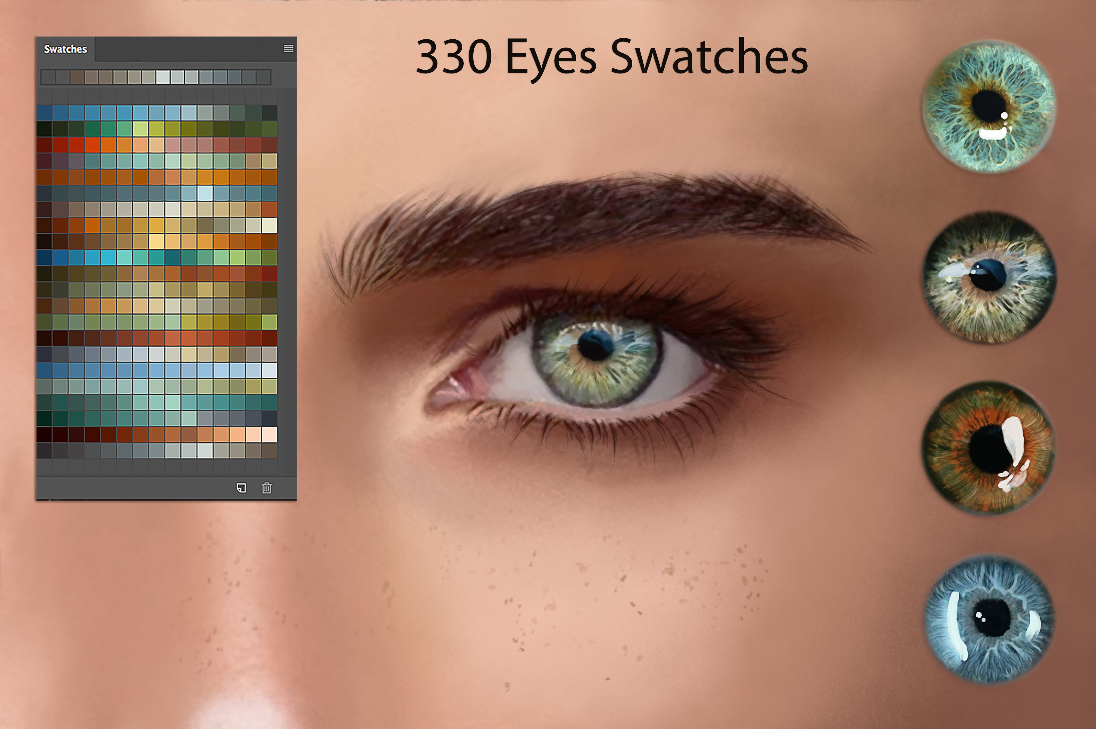 Eyes Ps Swatches For Digitalpainting Photoshop Add Ons