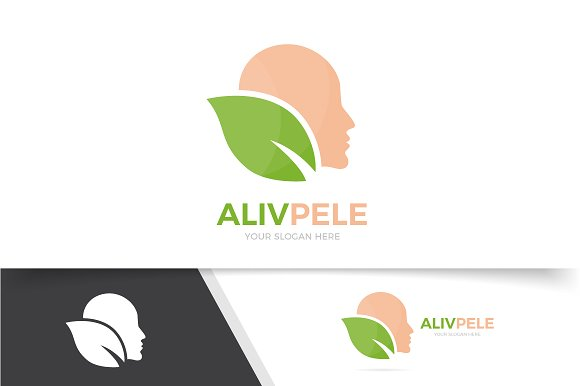 Logo Combination Of Man And Leaf