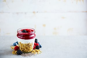 Detox breakfast in jar