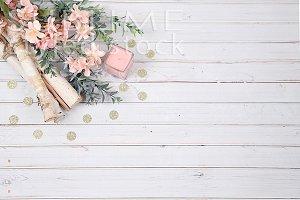 Wood background styled image