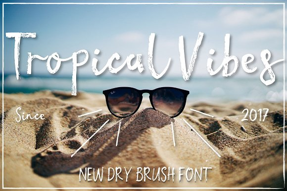 Tropical Vibes Dry Brush Font