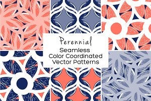 Perennial Seamless Vector Patterns