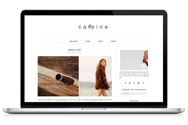 WordPress eCommerce Themes: Light Morango - Woocommerce WP Theme - Caffeine