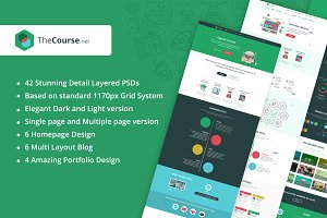 TheCourse | Education PSD Template