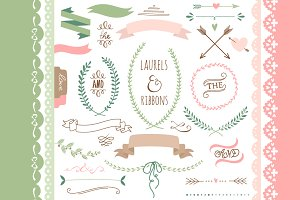 Laurels, Ribbons, Wreaths and Arrows
