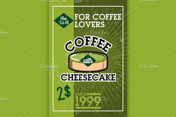 Color Vintage Cafe Banner