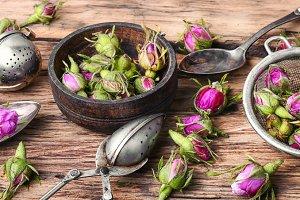 petals of tea-rose for tea