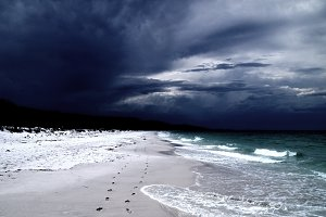 Cloudy Hyams Beach