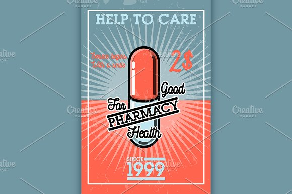 Color Vintage Pharmacy Banner