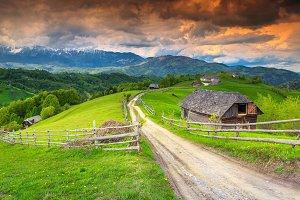 Rural landscape in Transylvania