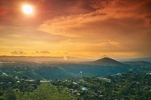 Sunny Nicaragua landscape