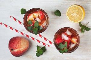 Tea peach ice