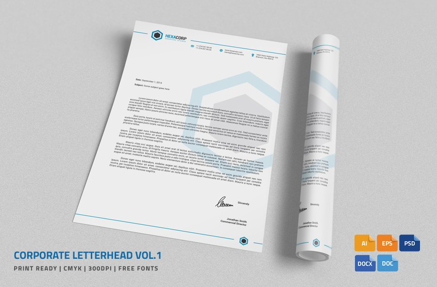corporate letterhead 1 with ms word stationery templates