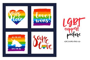 LGBT support posters