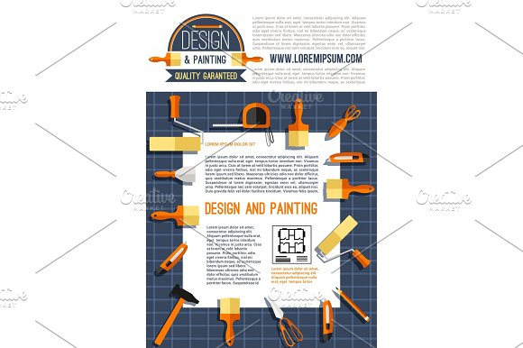Vector Poster For House Design And Painting