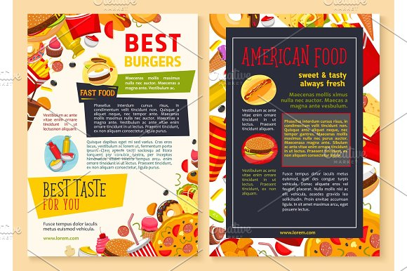 Food poster restaurant templates 24x36