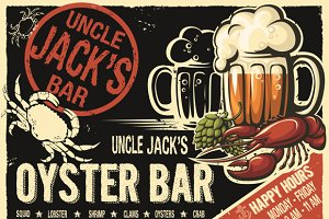 Uncle Jack's oyster bar poster