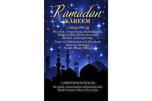 Ramadan Kareem poster for islam religion