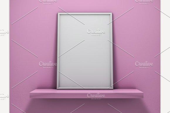 Mock Up Of Blank Frame Poster