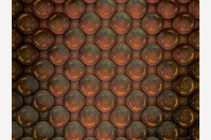 Abstract background of metal balls.