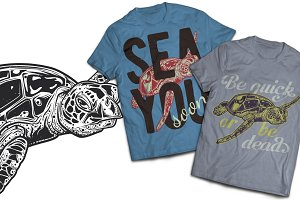 Nautical T-shirts And Poster Labels