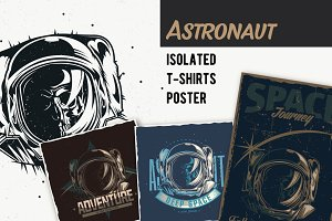 Space T-shirts And Poster Labels