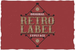 Retro Label Classic Look Typeface