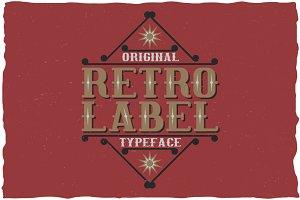 Retro Label Classic Look Typeface