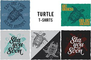 Turtle Collection of T-shirt Designs