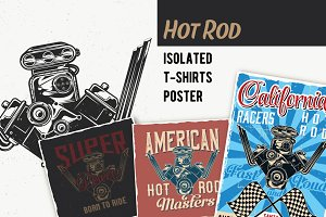 Engine T-shirts And Poster Labels