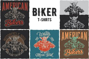 Biker Collection of T-shirt Designs
