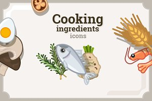 Cooking ingredients icons (3v)