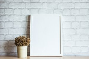White Frame Mockup Minimalist Photo
