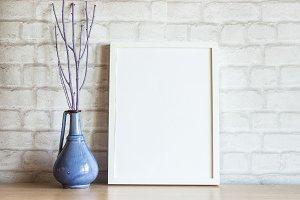 White Frame Mockup Minimalist