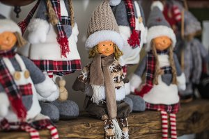 Beautiful Christmas soft toys people