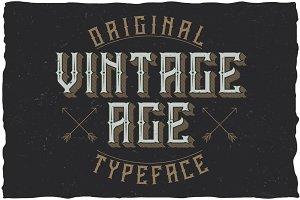 Vintage Age Label Typeface