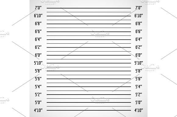 Blank Criminal Police Lineup Or Mug Shot Vector Background