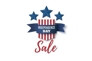 Independence Day, sale background. 4th of July.
