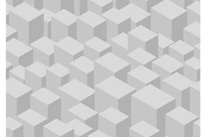 Isometric cube seamless pattern