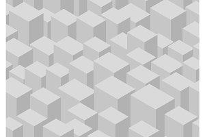 Isometric cube seamless pattern