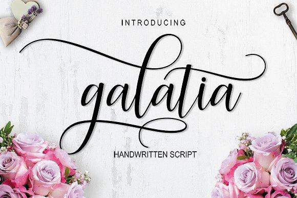 Galatia Script 30% OFF