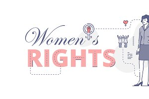 Women's rights web banner