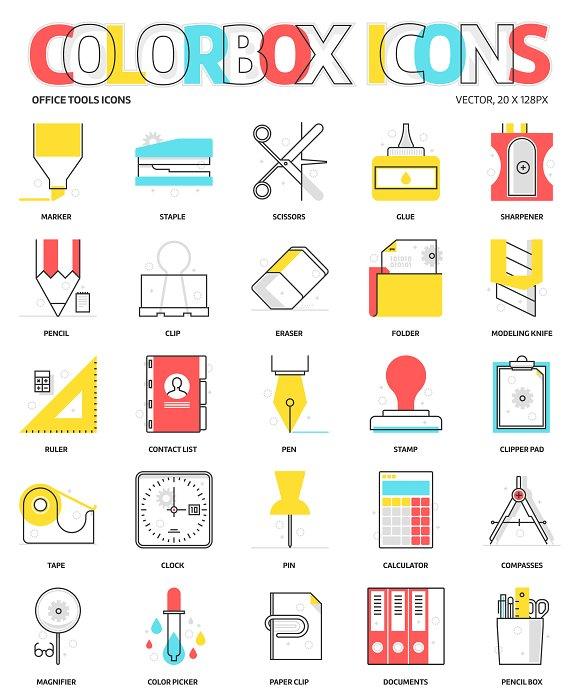 Colorbox Icons Office Tools